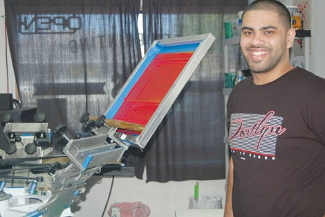 After studying graphic design and architecture at Portland State, Hussein Al-Baiaty has his own screen business and T-shirt shop, H&S Screen Printing in Beaverton. His company brand Almaic is a juxtaposition of hip-hop culture, modern design and his heritage as a young man who was a refugee from Iraq as a young child before his family migrated to the United States.