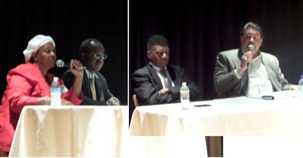 Photo 1. Linda Wilkerson-Wynn and Dr. Lew Blackburn.  Photo 2. C.W. Whitaker and Brad Underwood –<em>Photos by The Dallas Examiner</em>
