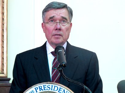 Gil Kerlikowske, director of the National Drug Control Policy, talks about President Barack Obama's 2013 blueprint for drug policy during a speech at the Johns Hopkins School of Medicine in Baltimore on April, 24. He says the strategy includes a greater emphasis on using public health to fight addiction and diverting non-violent drug offenders into treatment instead of prisons.