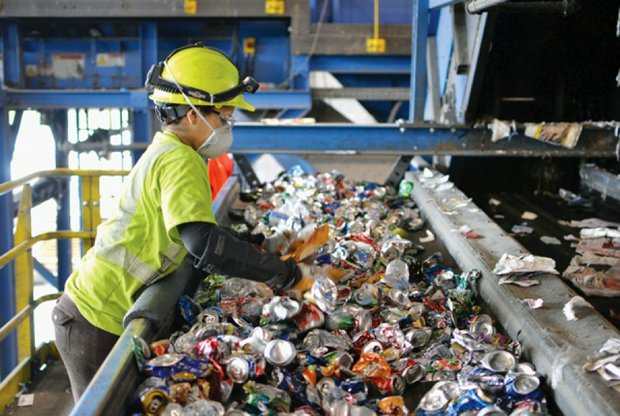 Plastic bags often get caught in the conveyor belts of the sorting equipment at the Prince George's County Materials Recycling Facility in Capitol Heights, jamming the rotating discs and causing the system to shut down./ourtesy of Prince George's County