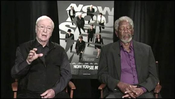 Morgan Freeman tried his hardest to stay awake during a televised interview but he just couldn't do it.