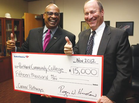 Thanks to a $15,000 donation from Bank of America, 15 more PCC students will  now have access to career training.