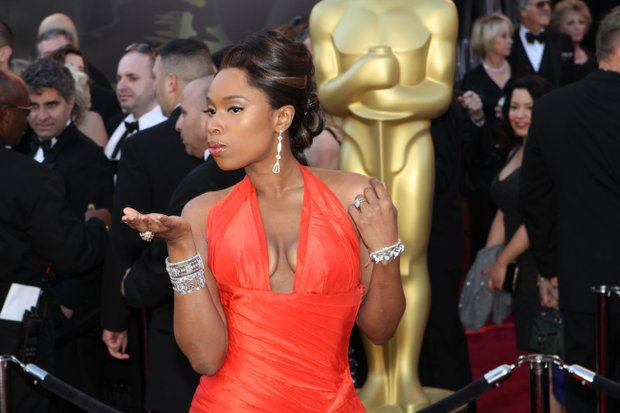 Jennifer Hudson arrives on the red carpet at the 83rd Annual Academy Awards on Sunday, February 27, 2011.