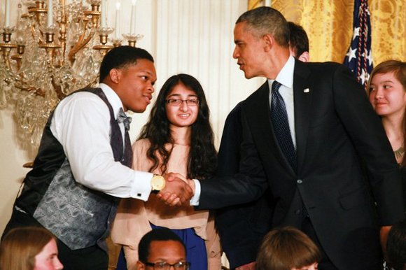 During a daylong ceremony Monday, President Barack Obama praised the winners of the White House's third annual Science Fair, as ...