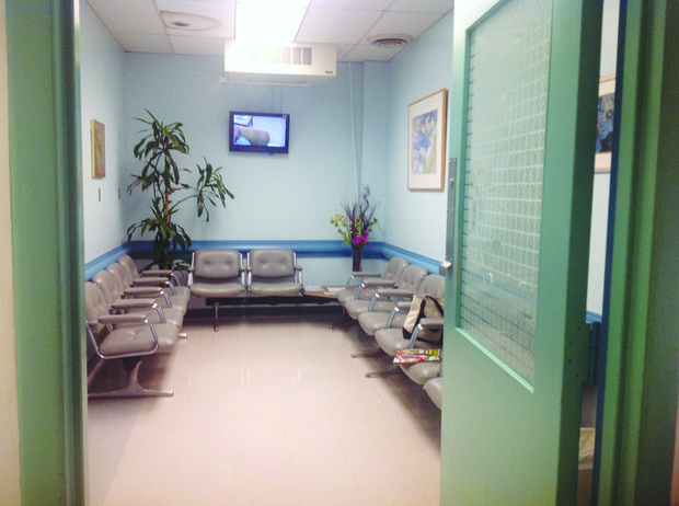 """""""Zora's Lounge,"""" a waiting room for patients and families at Howard University Hospital's Cancer Center, was dedicated May 17 to the late Zora Brown, a research advocate who died of cancer in March. (Courtesy of the Friends of Zora Brown Committee)"""