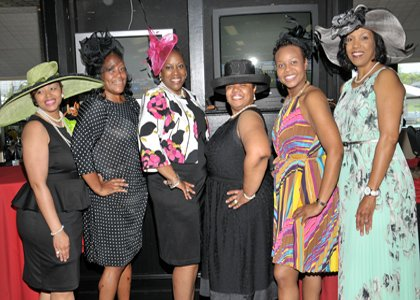 "The Epsilon Omega Foundation, Inc. the charitable arm of the Epsilon Omega Chapter of Alpha Kappa Alpha Sorority, Inc. sponsored their second ""Day at the Races"" on Sunday, May 5, 2013 at the famed Pimlico Racecourse in Baltimore City. The theme of the event was ""A Hat & Glove Affair: Elegance Revisited."" These ladies have