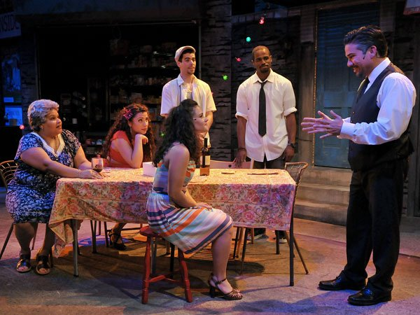 "The cast of the SpeakEasy Stage Company's ""In the Heights"" production, which runs through June 30."