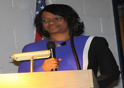 Jacqueline Griffin, mother of Washington Redskins quarterback Robert Griffin III urged families attending a homeownership workshop to live within their means.