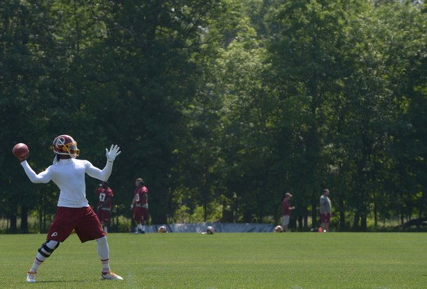 Redskins training in Ashburn, Va.