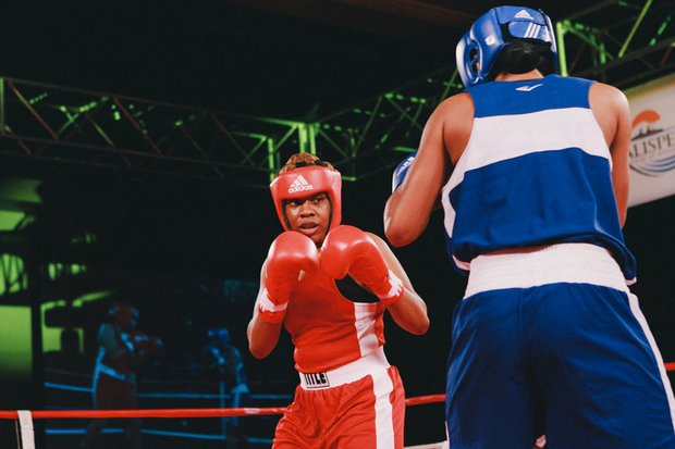 "Franchon Crews, also known as the ""Heavy Hitting Diva,""  is first American woman to win gold at the Pan American Games."