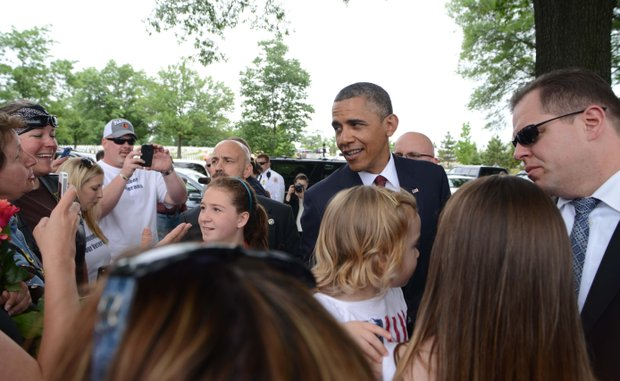 President Obama at Arlington National Cemetery on Monday, May 27, 2013.