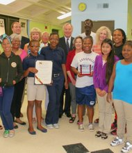 Comptroller Franchot presented the William Donald Schaefer Award at the Eastport Community Center on Tuesday, May 28, 2013 to Seeds 4 Success founders and staff.
