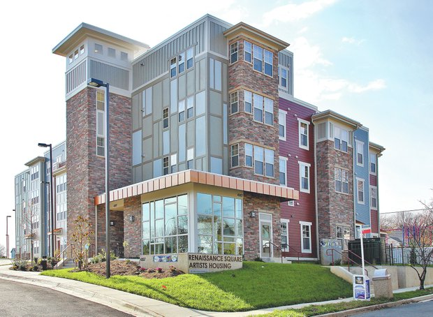 "Renaissance Square in Hyattsville — a 44-unit apartment community — has been designated for ""artists of modest means."" (Photo courtesy of Prince George's County)"