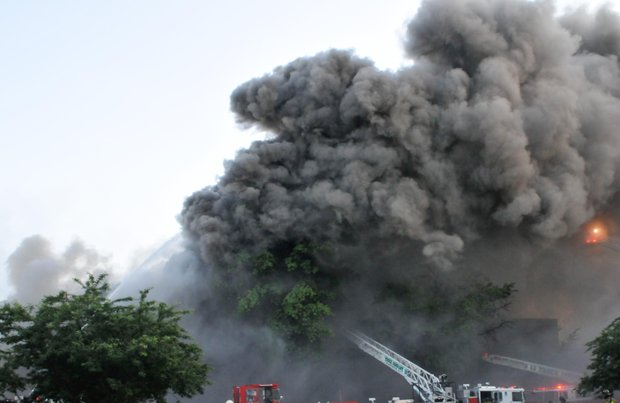 More than 200 firefighters from the District and Joint Base Anacostia Bolling fire departments fought a four-alarm fire that destroyed Frager's Hardware in Southeast on Wed., June 5. Smoke from the fire could be seen for miles.