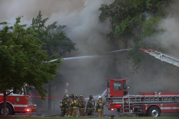 D.C. Firefighter's fight a 4-alarm blaze that destroyed Frager's Hardware in Southeast on Wednesday, June 5.