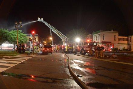 A four-alarm blaze destroyed Frager's Hardware in Southeast on Wed., June 5.