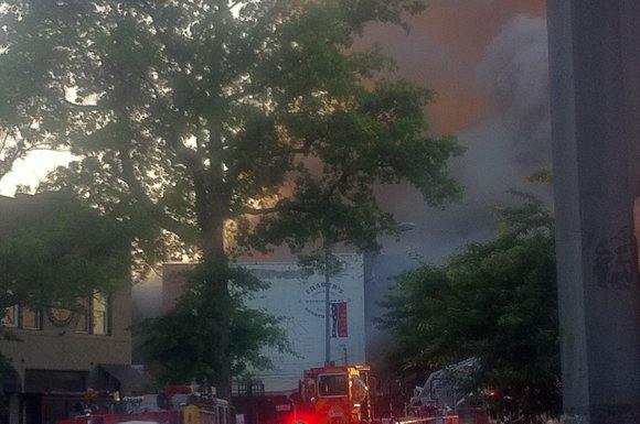 A four-alarm fire late Wednesday evening ravaged Frager's Hardware, a renowned Capitol Hill institution established more than 90 years ago.
