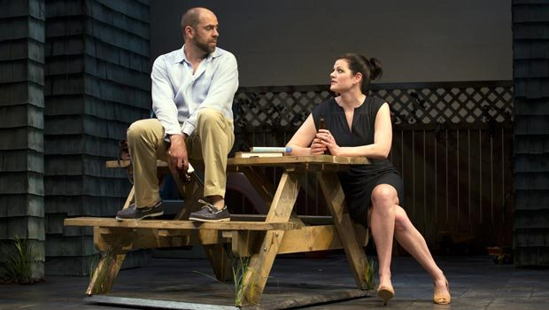 "Timothy John Smith and Kate Shindle in the Huntington Theatre Company's production of ""Rapture, Blister, Burn,"" which runs through June 30 at the Boston Center for the Arts."