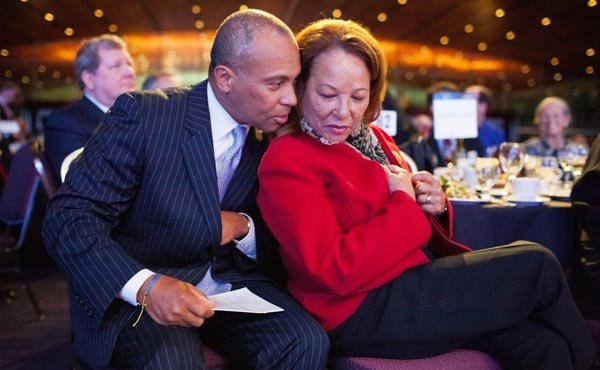 On Wednesday, May 8, Gov. Deval Patrick, pictured here with his wife, First Lady Diane Patrick, was honored by the Greater Boston Chamber of Commerce with the 2013 Distinguished Bostonian Award.