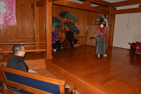 Marie Johns, deputy administrator for the U.S. Small Business Administration drops by The Art & Drama Therapy Institute located on S Street in Northeast and watches a student perform a Japanese dance Thurs., May 23.