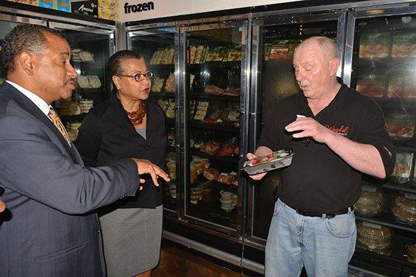 Bill Fuchs (right) with U.S. SBA District Director Antonio Doss and SBA Deputy Administrator Marie Johns.