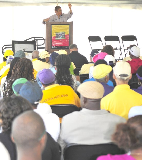 Congresswoman Eleanor Holmes Norton was the featured speaker addressing an audience of more than one hundred attendees at the Langston Golf Heritage Celebration on Saturday, June 8 in Northeast.