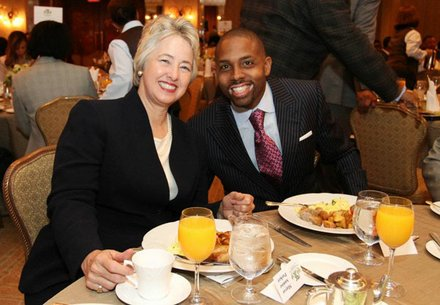 Mayor Annise Parker & Texas Black Expo President Jerome Love at Corporate