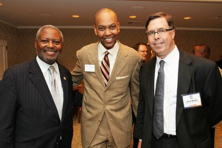 HCC Member Andrew Burks, GHCVB COO John Rolfe, General Manager of KPRC
