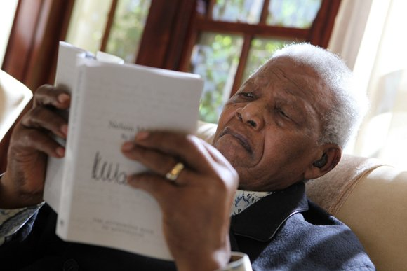 South Africa's first Black president Nelson Mandela.