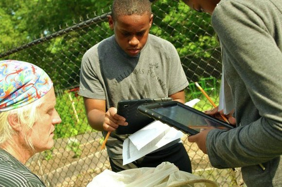 "Students at Charles Carroll Middle School in New Carrollton, Md., participated in the school's first ""bioblitz"" Wednesday, part of a ..."