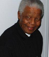 Nelson Mandela at the 46664 London Concert for Nelson Mandela's 90th birthday. June 27, 2008