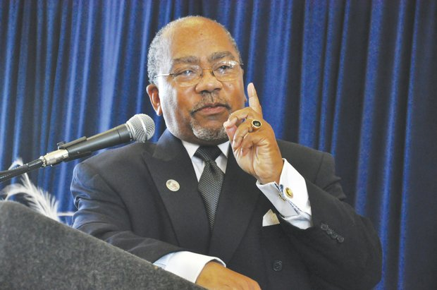 The Rev. Dr. Lewis Anthony, served as the keynote speaker for the United Black Fund's 44th annual Calvin & Wilhelmina Rolark Scholarship Luncheon on Saturday, June 8 at Howard University's Blackburn Center in Northwest.