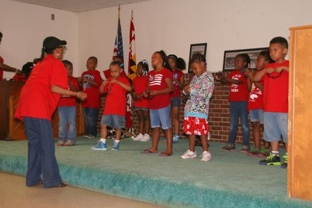 The Cedar Morris Hill Youth Choir performed at the Cedar Morris Hll Neighborhood Community Day event held June 8, 2013