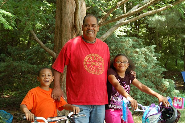 Happy Father's Day daddy!  We love you!  Ron Burke with Cheyenne and Ronald