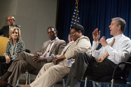 "Roundtable discussion at UNCF's ""Better Futures"" roll-out campaign."