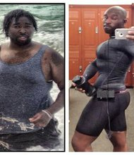 "At his heaviest in 2010, Tyrone Garrett weighed 335 pounds. Even though he was only in his mid-20s, his blood pressure and cholesterol were dangerously high. He showed off his weight loss for CNN's iReport.com, going ""From flab to swag."""