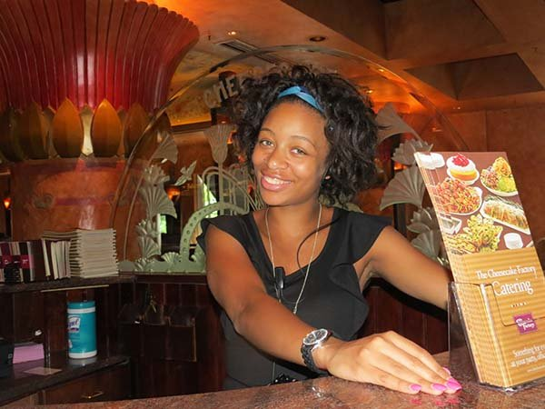 Aijewel Ballard, 21, a Howard University student and Cheesecake Factory employee traveled to China with CGI's first group in 2007.  She was in the 10th grade at the time.