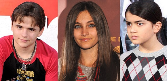 Prince And Paris And Blanket Jackson 2013
