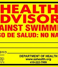 The Anne Arundel County Health Department is warning people not to swim at several beaches due to high bacteria levels.