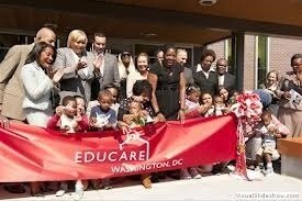 Mayor Vincent Gray (fourth from left) took part in last year's ribbon-cutting ceremony for the D.C.'s Educare program. (Courtesy of Educareschools.org)