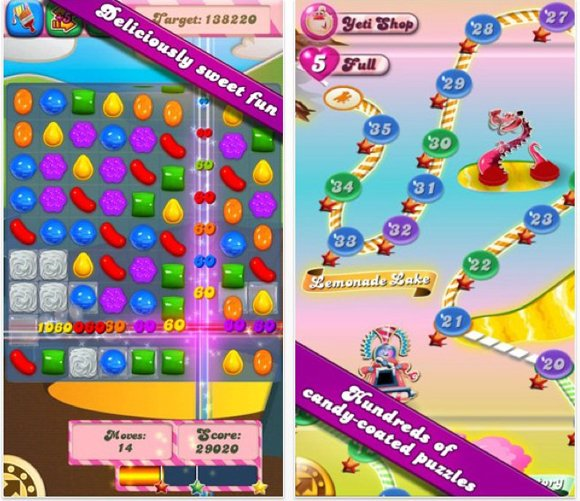 """Candy Crush Saga"" is among most-downloaded mobile games for Android, Apple devices. Game is most popular app on Facebook, where it has almost 32 million fans."