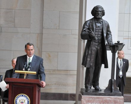 House Speaker John Boehner (R-Ohio) offer remarks at Frederick Douglass statue unveiling held at the U.S. Capitol on June 19.