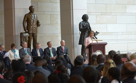 D.C. Delegate Eleanor Holmes Norton (D) at the Frederick Douglass statue unveiling held at the U.S. Capitol on June 19.