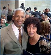 4th District U.S. Rep. Hank Johnson and Nettie Washington Douglass, Frederick Douglass' great-great-granddaughter.