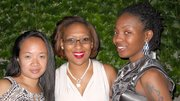 The Green Gate Gala to benefit the Crispus Attucks Childrens Center, was held on June 20 at the Franklin Park Tropical Rainforest Pavilion in Dorchester. (L-R): Guests Pamela Laureta, Shaniqua Osgood and Monique Allen.