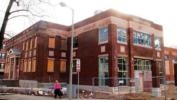 At the center of the Charles Street AME Church bankruptcy hearing is the uncompleted Renaissance Building.