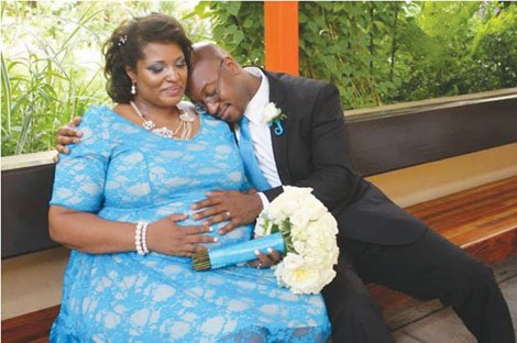 Confined to Legacy Emanuel Hospital for complications in her 8th month of pregnancy, Monique Norington and Sheldon F. Joseph were able to get married on the medical center's grounds thanks to the help of the hospital and friends.