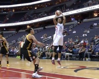 Ivory Latta led the Washington Mystics with 15 points as the team posted their widest margin of victory in nearly ...