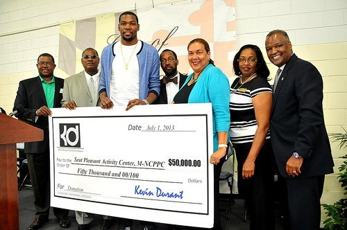 NBA superstar and D.C.-area native Kevin Durant has awarded $150,000 in grants to three Prince George's County organizations that were ...