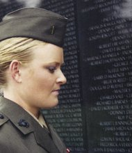 A frame from the documentary 'The Invisible War,' a movie depicting an epidemic of sexual assaults against women in the Armed Forces and the systemic cover-up of rape and other crimes by superior officers.